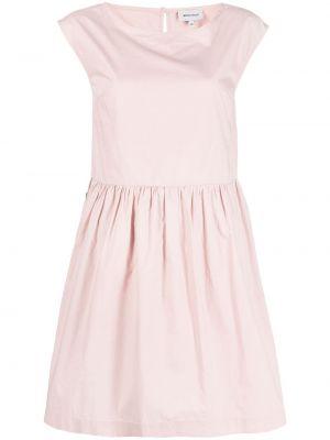 Хлопковое прямое розовое платье Woolrich