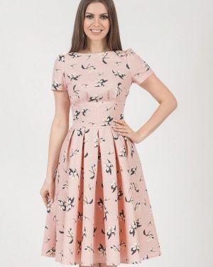 Летнее платье розовое оливковый Olivegrey