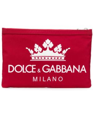 Клатч красный Dolce & Gabbana