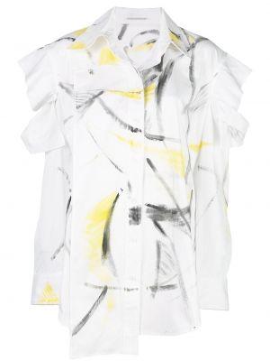Длинная рубашка - белая Yohji Yamamoto