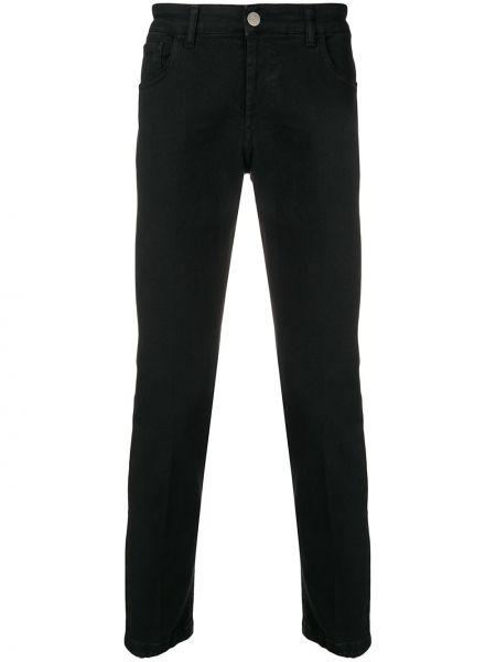 Черные джинсы на пуговицах с карманами Entre Amis