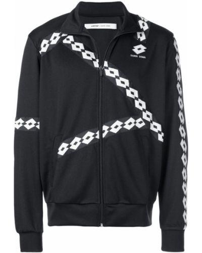 Длинная куртка с логотипом черная Damir Doma