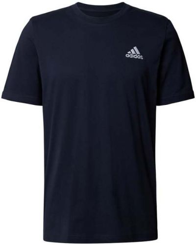 Niebieska koszulka bawełniana Adidas Performance
