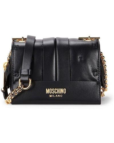 Кожаная косметичка - черная Moschino