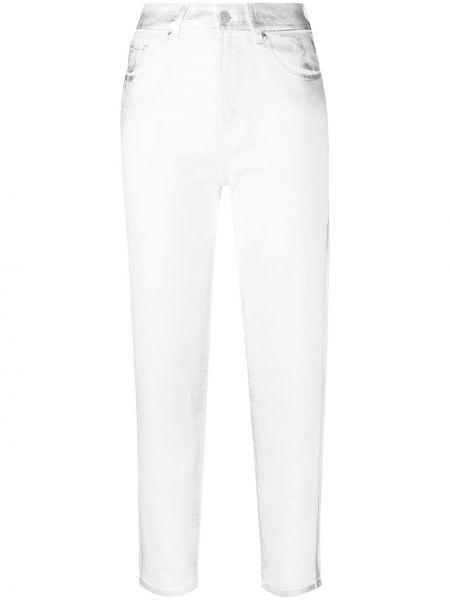 Белые джинсы классические с высокой посадкой стрейч 7 For All Mankind