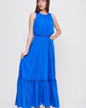 Платье прямое синее Sfn