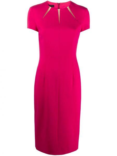 Платье миди розовое на молнии Escada