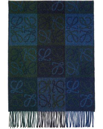 Zielony z kaszmiru szalik Loewe