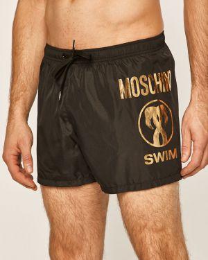 Czarne szorty z printem Moschino Underwear