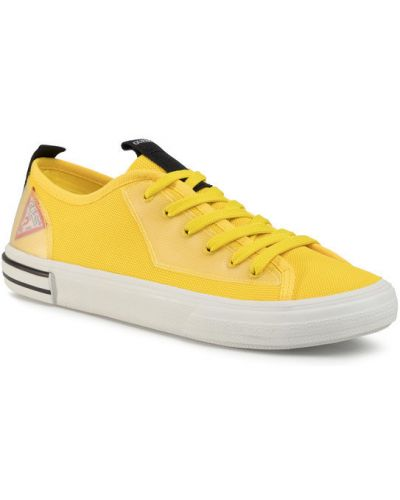 Żółte tenisówki Guess