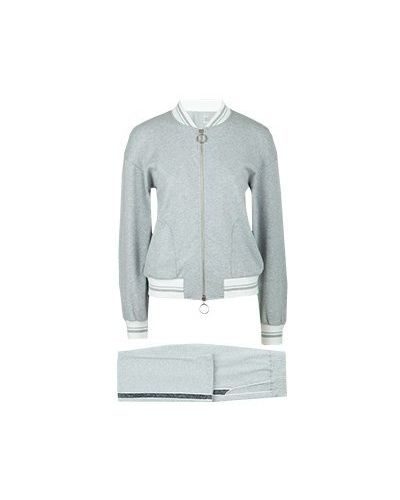 Хлопковый спортивный костюм - серый Eleventy