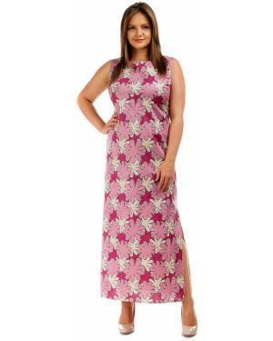 Летнее платье розовое с цветочным принтом Liza Fashion
