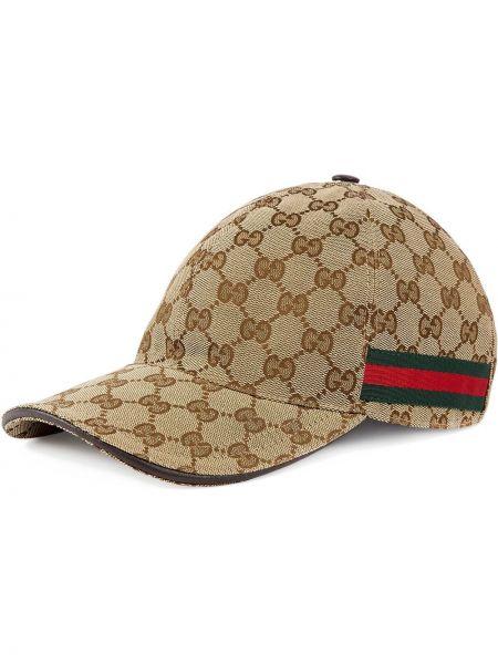 Klasyczny zielony kapelusz skórzany Gucci