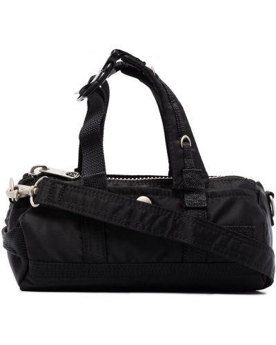 Czarna torba na ramię srebrna Sacai