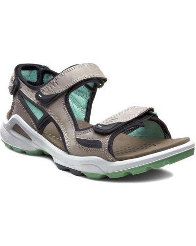 Спортивные сандалии на каблуке из нубука Ecco