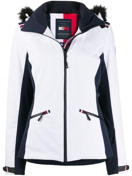Куртка с капюшоном мятная на молнии узкого кроя с карманами Tommy Hilfiger