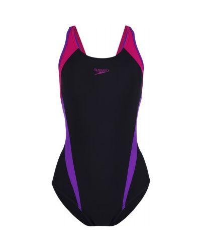Гипоаллергенный черный спортивный купальник со вставками Speedo