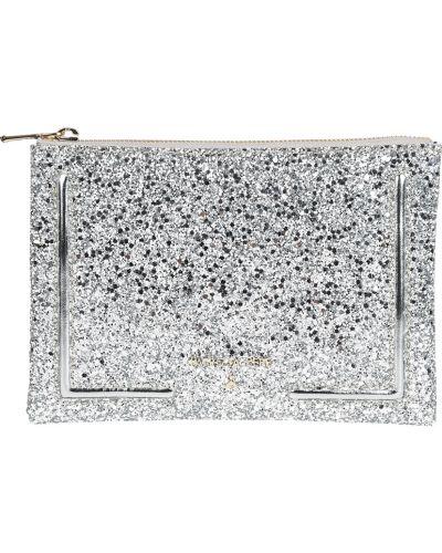 Клатч на молнии - серебряный Patrizia Pepe