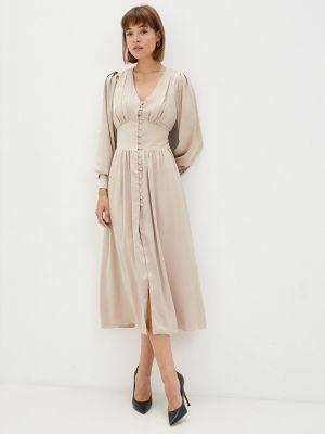 Вечернее платье - бежевое Moru