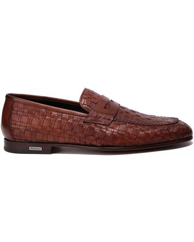 Коричневые кожаные туфли Baldinini