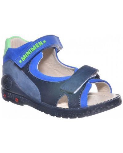 Деловые кожаные сандалии с подкладкой Minimen