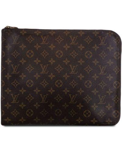 Коричневая папка на молнии с подкладкой Louis Vuitton