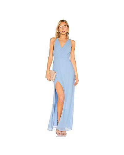 Вечернее платье плиссированное со складками Majorelle