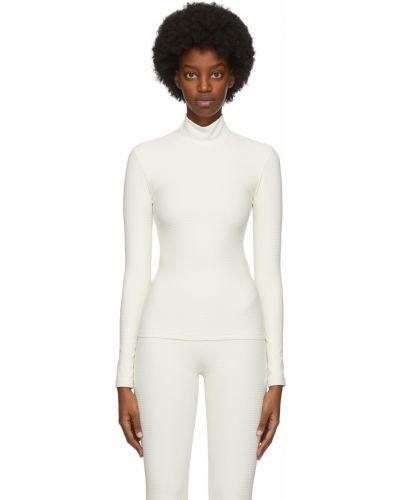 Biały długi sweter z długimi rękawami z nylonu Gil Rodriguez