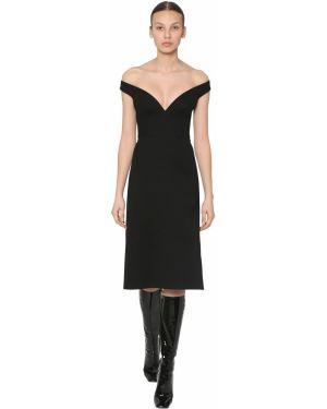 Платье миди на молнии без рукавов Prada