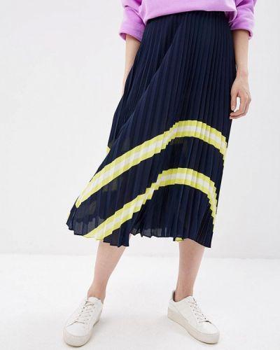 Плиссированная юбка синяя Befree