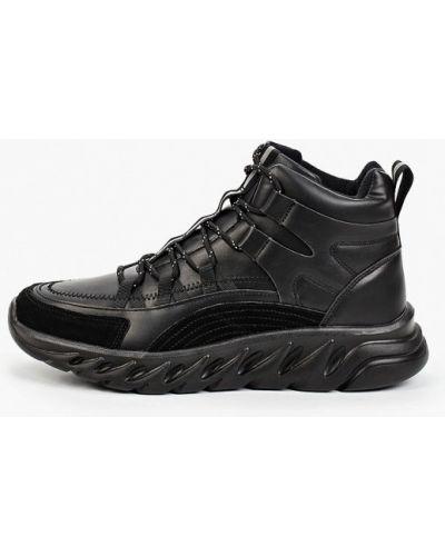 Черные кожаные ботинки Escan