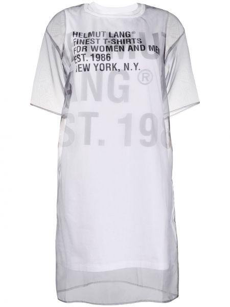 Платье мини футболка в рубчик Helmut Lang