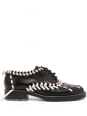 Кожаные черные оксфорды на каблуке Louis Vuitton