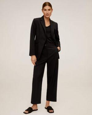 Укороченные брюки с карманами костюмные Mango