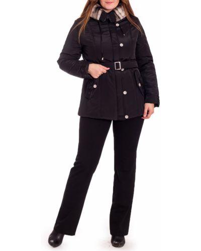 Утепленная куртка черная с поясом Lacywear