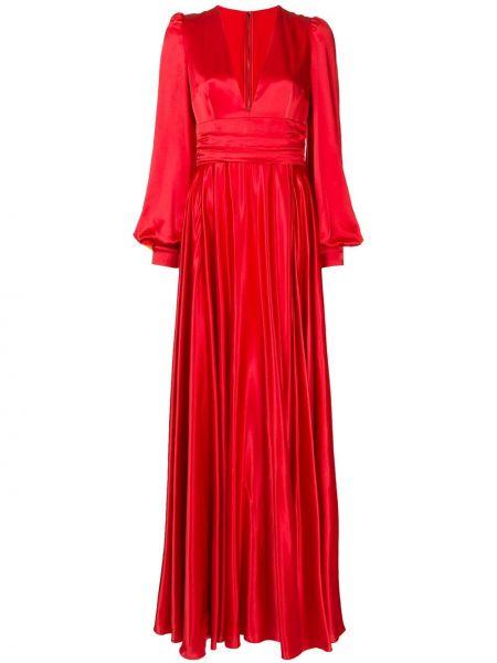 Вечернее платье с драпировкой - красное Dolce & Gabbana