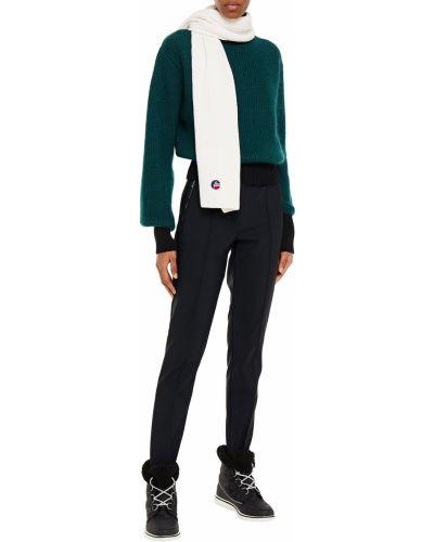 Prążkowany czarny sweter moherowy Fusalp