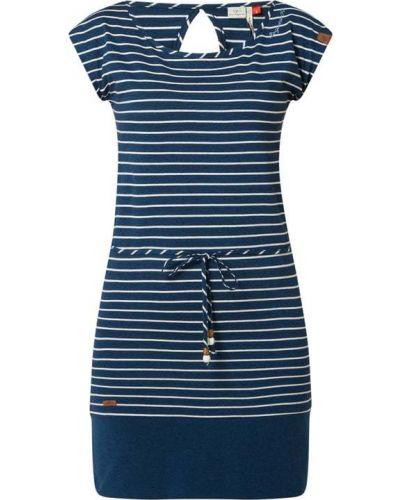 Niebieska sukienka w paski bawełniana Ragwear
