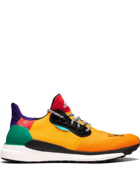 Żółte sneakersy sznurowane koronkowe Adidas By Pharrell Williams