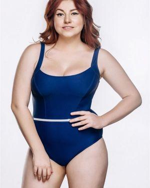 Синий плюшевый слитный купальник Morelito