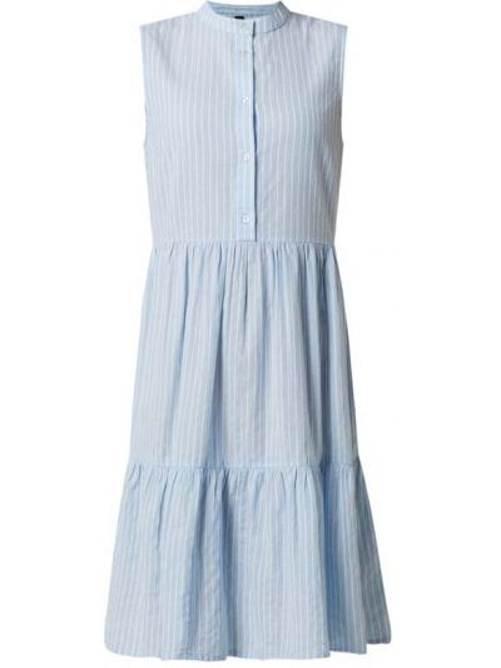 Sukienka midi rozkloszowana z falbanami w paski Y.a.s