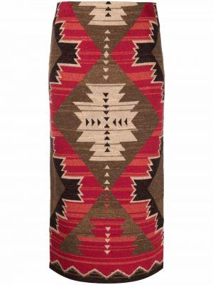 Spódnica z haftem Lauren Ralph Lauren