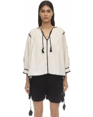 Блузка с вышивкой оверсайз Carolina K