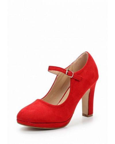 Туфли на каблуке замшевые Bellewomen