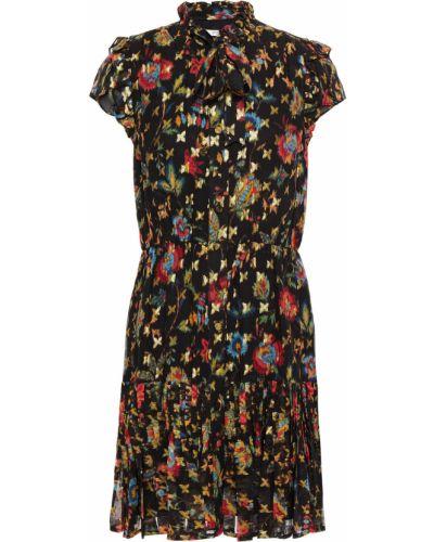 Плиссированное черное платье мини с подкладкой Derek Lam 10 Crosby