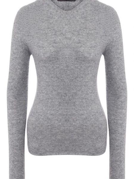 Шерстяной серый свитер Tegin