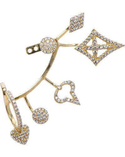Золотые серьги серебряные позолоченные Apm Monaco