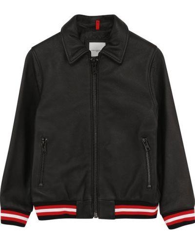 Кожаная куртка свободная с поясом Givenchy