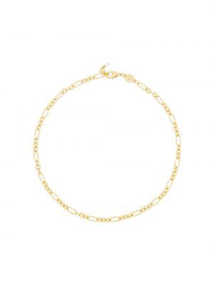 Золотистое желтое ожерелье с жемчугом позолоченное с декоративной отделкой Anni Lu