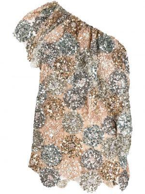 Bluzka krótki rękaw z siateczką asymetryczna Antonio Marras